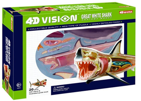 4D Vision Great White Shark Anatomy Model 3D CutAway Puzzle