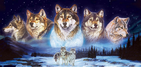 Wolves in the Snow - 1000 Piece Jigsaw Puzzle