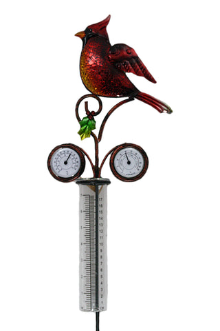 Cardinal Rain Gauge w/Thermometer and Barometer
