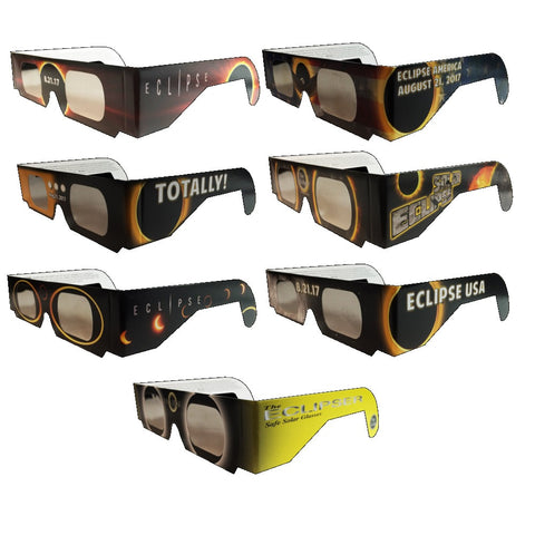 Eclipse Glasses, by American Paper Optics - Set of 7 Different Style Eclipsers