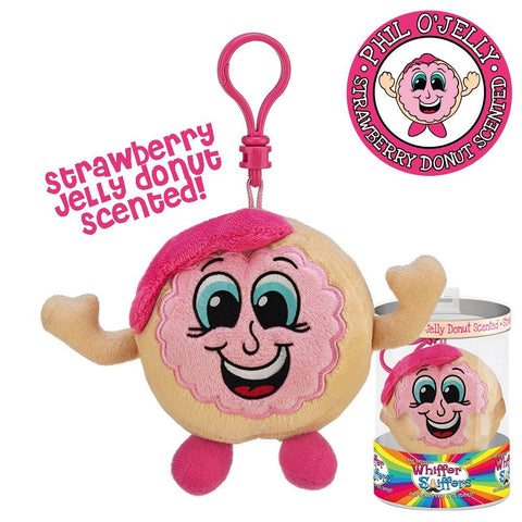 Phil O'Jelly Backpack Clip - Strawberry Jelly Donut Scented Whiffer Sniffer