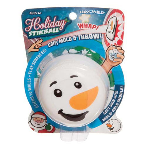 Snowman Holiday Stikball Stress Ball by Hog Wild