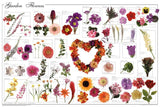 Gorgeous Laminated Garden Flowers Poster 24x36