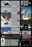 Laminated Space Shuttle Fleet Poster 24x36