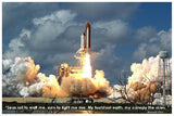 Laminated Space Shuttle Blastoff!  Poster 24x36