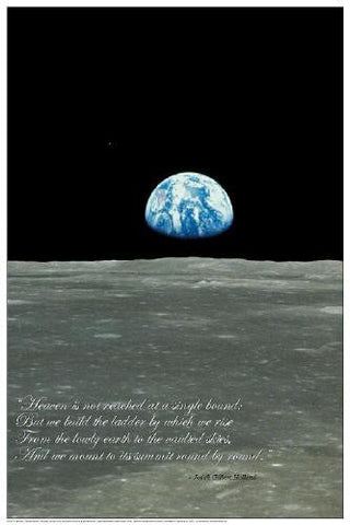 Earthrise Space Poster 24x36 Photograph of Earth