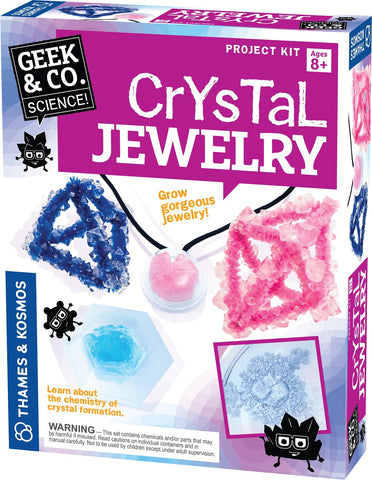 Geek & Co Science Project Kit - Crystal Jewelry by Thames & Kosmos