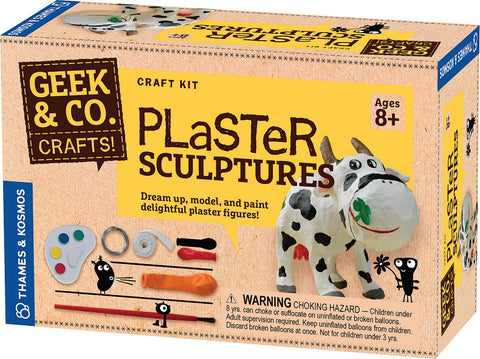Geek & Co Plaster Sculptures Craft Kit by Thames & Kosmos