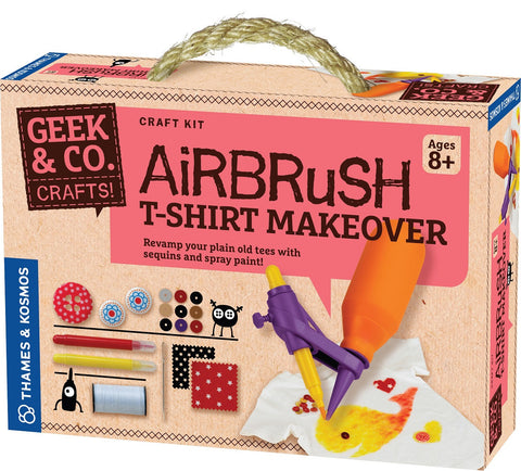 Geek & Co Airbrush T-Shirt Makeover Craft Kit by Thames & Kosmos