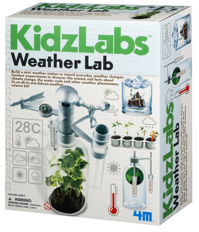 4M KidzLabs Weather Lab w/6 Weather Related Science Experiments