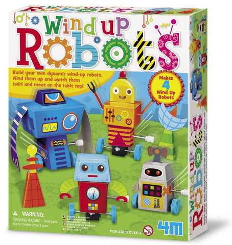 4M Build Your Own Wind-Up Robots