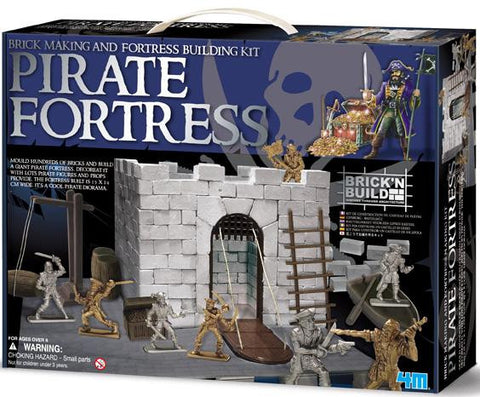 Pirate Fortress Construction Set a 4M kit Make your own bricks.