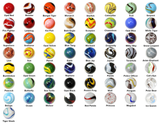 "Mega Marbles 1"" Shooter Bundle - Pack of 57 Different Styles in 25mm"
