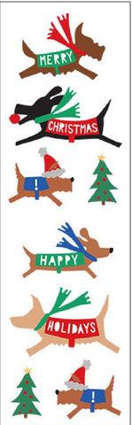 Mrs Grossman's Stickers - Christmas Dogs