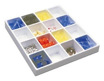 16 Compartment Lab Tray Organizer - Online Science Mall