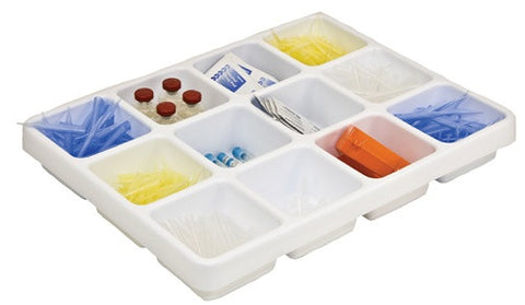 12 Compartment Lab Tray Organizer - Online Science Mall