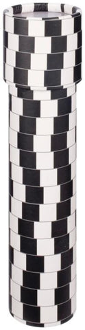 7.5 inch Kaleidoscope Black & White Optical Illusion Print