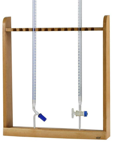 Burette Rack, Vertical, Wooden for Burets