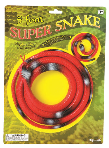 Giant Rubber Super Snake - 5 Feet Long w Baby
