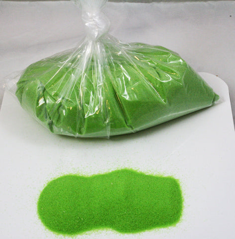 Neon Green Space Sand: 5lbs of Bulk Hydrophobic Sand