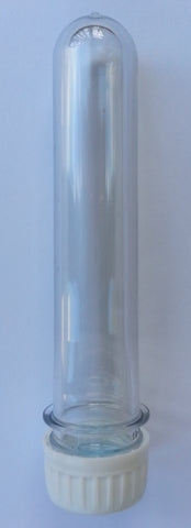 Plastic Safety Test Tube 5.5 L x 1 (OD) Inches Preform Threaded Cap - Pack of 30