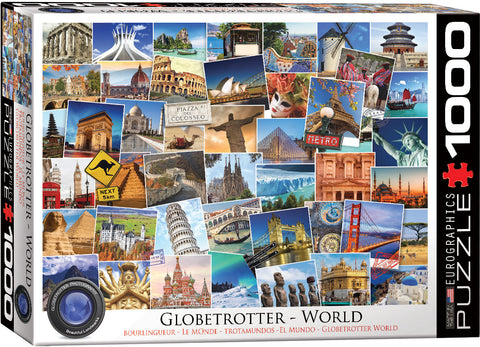 "Globetrotter World 1,000 Piece Puzzle 20"" x 27"""