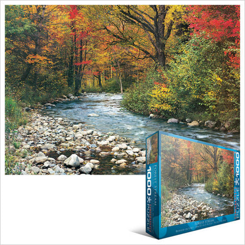 "Forest Stream 1000 Piece Puzzle 19.25"" x 26.5"""