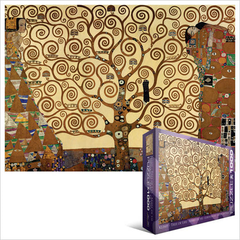"Gustav Klimt - Tree of Life 1000 Piece Puzzle 19.25"" x 26.5"""