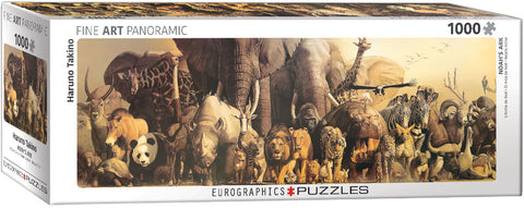 "Noah's Ark by Haruno Takino Panoramic 1,000 Piece Puzzle 13"" x 39"""