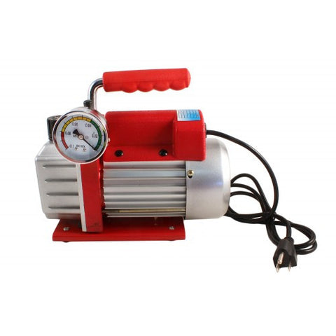 110v/60Hz Single Stage Vacuum Pump w/Analog Gauge - Online Science Mall