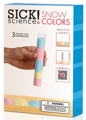 Sick! Science Snow Colors Experiment Kit by Be Amazing Toys