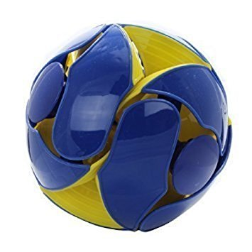 Switch Pitch Throwing Ball with Color Flipping Action Yellow and Blue Color