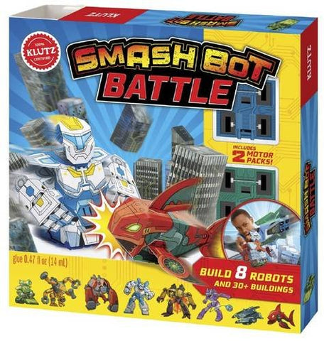 Klutz Smashbot Battle Book & Robot-Building Papercraft Kit