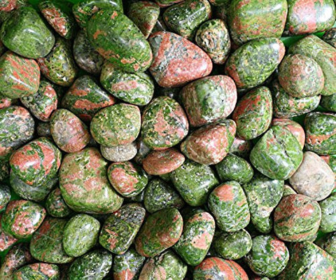 Polished Unakite Gemstones 8 Ounces