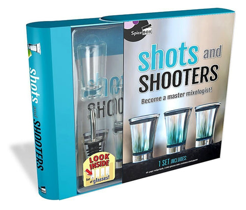SpiceBox Shots & Shooters Become a Master Mixologist Kit Gift Set