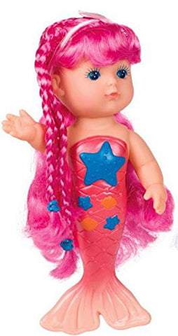 Bath Time Magical Mermaid Doll by Toysmith - Colors Vary