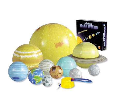 Inflatable Solar System Set - 11 Heavenly Bodies & Foot Pump