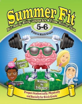 Summer Fit - Common Core Summer Activity Book - Prepare for 6th Grade