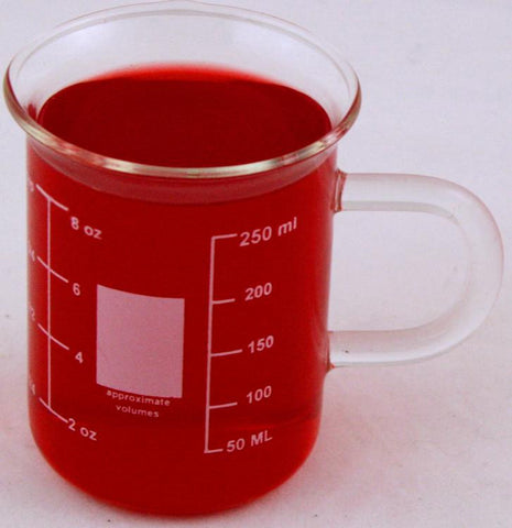 Glass Beaker Mug with Handle  250ml Great size for Coffee