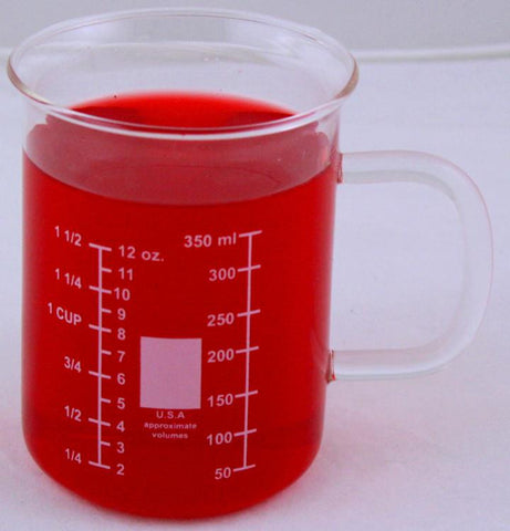 Glass Beaker Mug with Handle  400ml