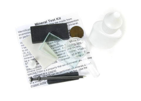 Mineral Test Kit with Streak Plates