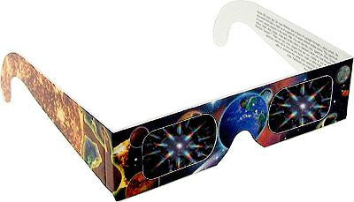 Fireworks Glasses w/ Earth and Planet Design 1 Pair