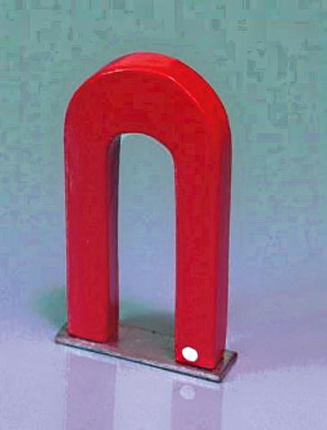 Alnico U-Shaped Magnet 75mm with Metal Keeper