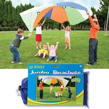 10 Foot Jumbo Parachute Outdoor Activity by Toysmith - Online Science Mall