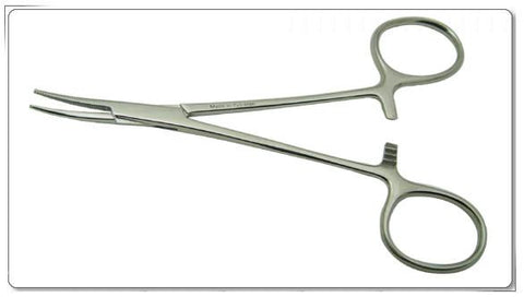 "5"" Curved Stainless Steel Hemostatic Forceps"
