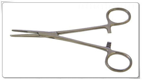"5.5"" Straight Stainless Steel Kelly Forceps"
