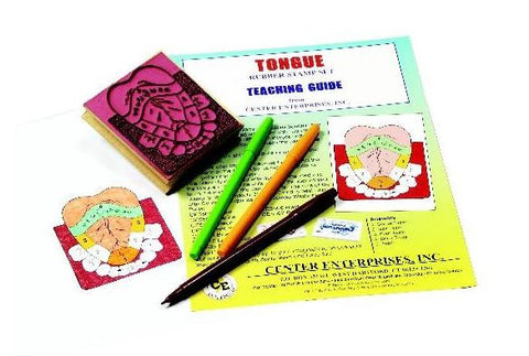 Anatomy of the Human Tongue Rubber Stamper Set: 1 Stamp & Teachers Guide