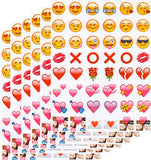 Emoji Hugs & Kisses Sticker Pack - 288  Romance Emoticons