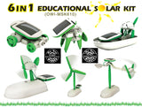 Robotikits 6 in 1 Educational Solar Energy Kit - Build 6 Different Solar Powered Models