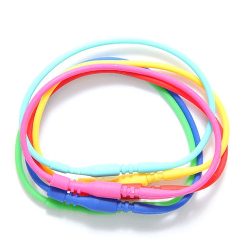 Pk of 6 Stretch Magic Silkies Bracelets Colorful Set